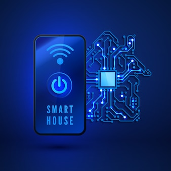 Remote monitoring and control smart house from smartphone