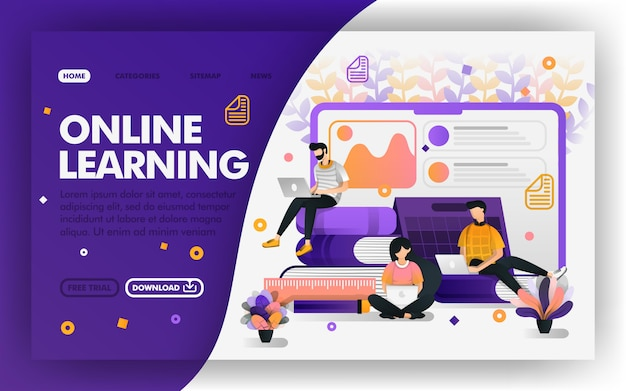 Remote online learning or e-learning