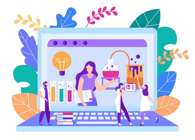 Remote teachers homework check vector illustration