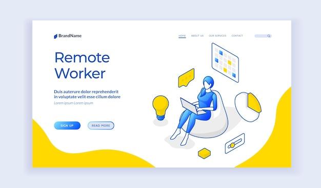 Remote worker website
