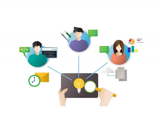 Remote working concept illustration