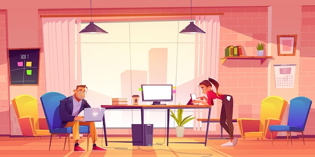 Remote working scenes and elements