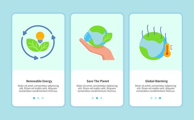 모바일 앱을위한 재생 가능 에너지 템플릿 ui 웹