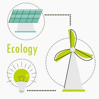 Набор иконок возобновляемых источников энергии