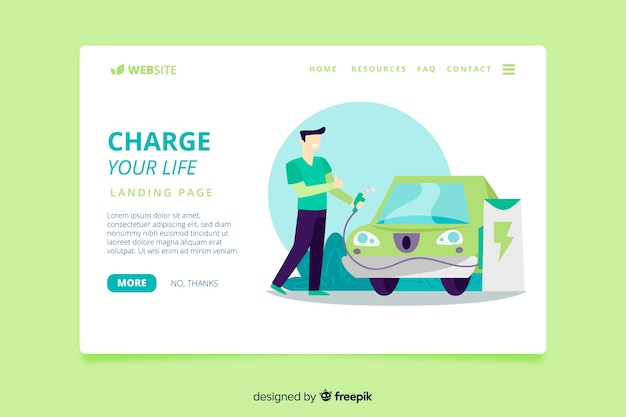 Renewable energy landing page template