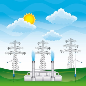 Renewable energy vector illustration