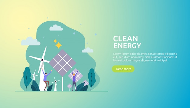 Renewable green electric energy sources and clean environmental