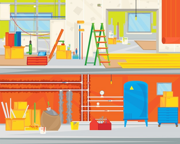 Renovation apartment flat design