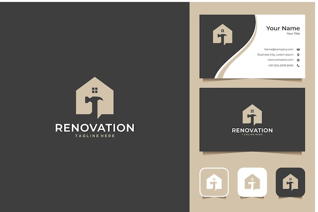 Renovation house logo design and business card