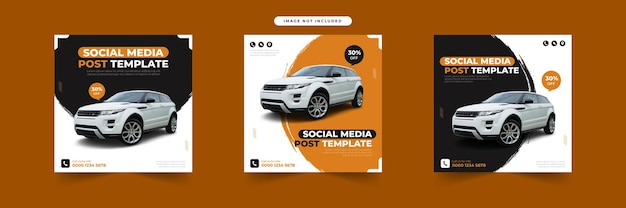 Rent car for social media post template collection