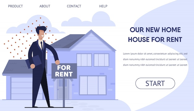 Rent real estate landing page with booking online