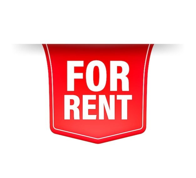 For rent red ribbon.