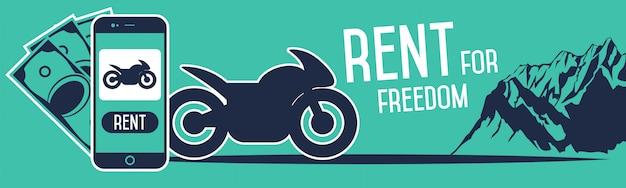Rental motorcycle banner.