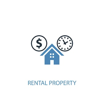 Rental property concept 2 colored icon. simple blue element illustration. rental property concept symbol design. can be used for web and mobile ui/ux