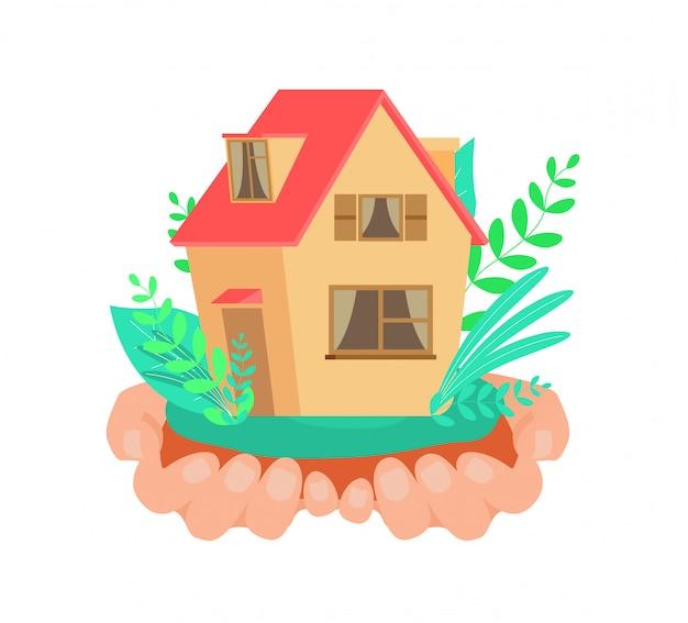 Rental property service flat vector illustration