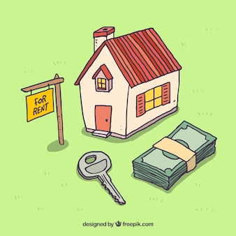 Renting a house background