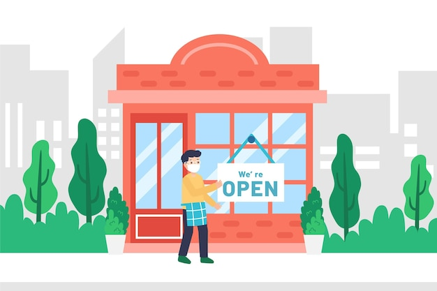 Открытие магазина после коронавируса