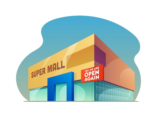 유행성 후 쇼핑몰 개념을 다시 열기.