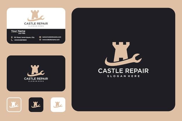 城のロゴデザインと名刺を修復する