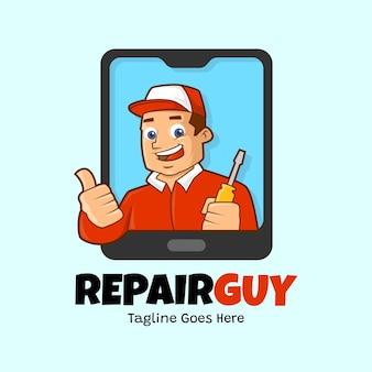 Repair guy logo template
