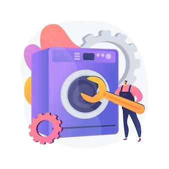 Riparazione di elettrodomestici concetto astratto illustrazione