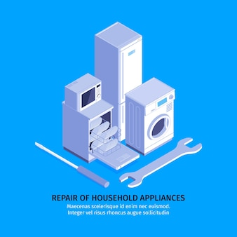 Repair of household appliances template