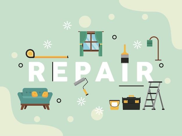 Repair lettering home improvement