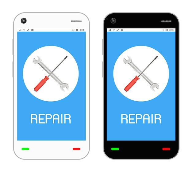 スマートフォン画面のロゴを修復する