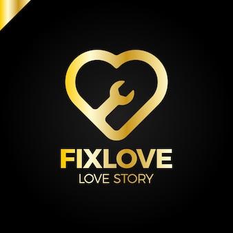 Repair love logo design