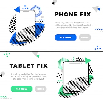 Repair of mobile phones and service electronic banners