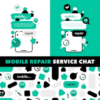Repair of mobile phones and service electronic technic
