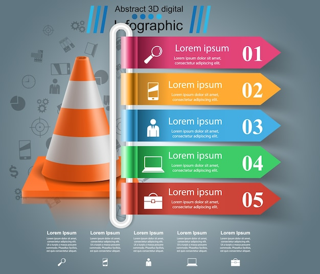 Repair road infographic design template and marketing icons