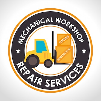 Repair service illustration