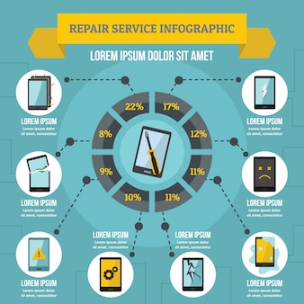 Repair service infographic concept, flat style