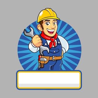 Repair service mascot