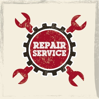 Repair service over white background vector illustration