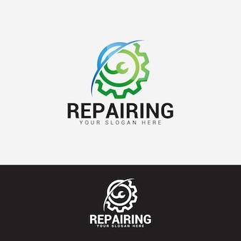 Ремонт логотипа дизайн вектор шаблон