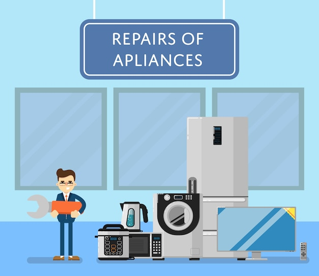 Repairs of appliances with electro technics