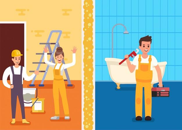 Repairs room prof service promotion flat