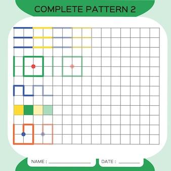 반복 패턴, pazzle. 사진을 복사합니다. 미취학 아동을 위한 특별. 미세 운동 기술을 연습하기 위한 인쇄 가능한 어린이 워크시트. 색상을 배우십시오. 주의력 운동. 교사 자원. 녹색. 벡터