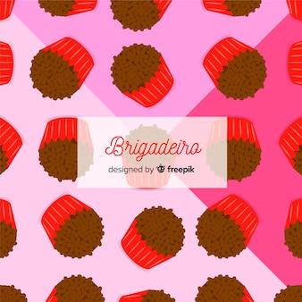 Repeated brigadeiro flat background