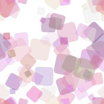 抽象的な幾何学的正方形パターンの背景 - ランダム回転した正方形からのベクトル設計を繰り返す