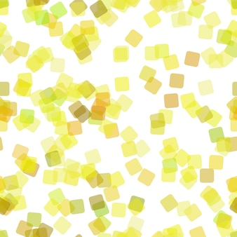 抽象的な幾何学的正方形パターンの背景を繰り返す - 不透明効果を持つランダム回転した正方形からのベクトル図