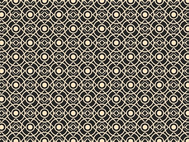 Повторяя священный геометрический узор фона.