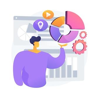 Визуализация диаграммы отчета. аналитика, статистика, анализ. разработчик представляет новое инновационное приложение для визуализации инфографики.