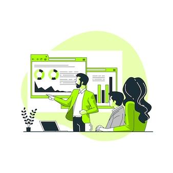 Report concept illustration