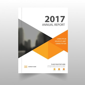 Report template with geometric shapes