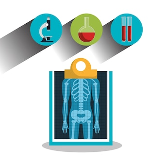 Report x-ray icons medical service