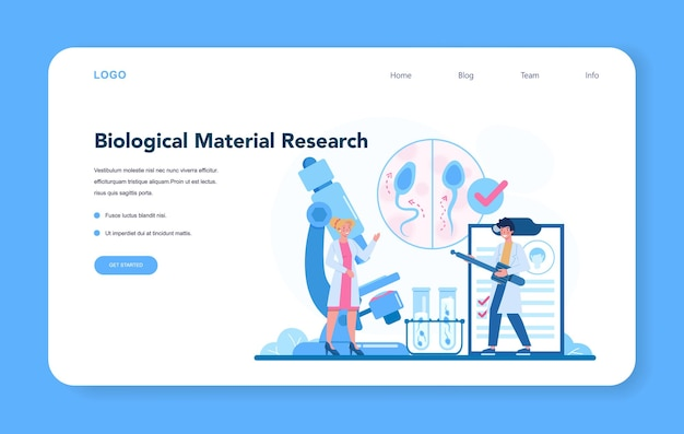 Reproductologist and reproductive health web banner or landing page.