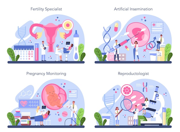 Reproductology and reproductive health set.
